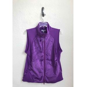 Peter Millar Performance Women Zip Vest Size L